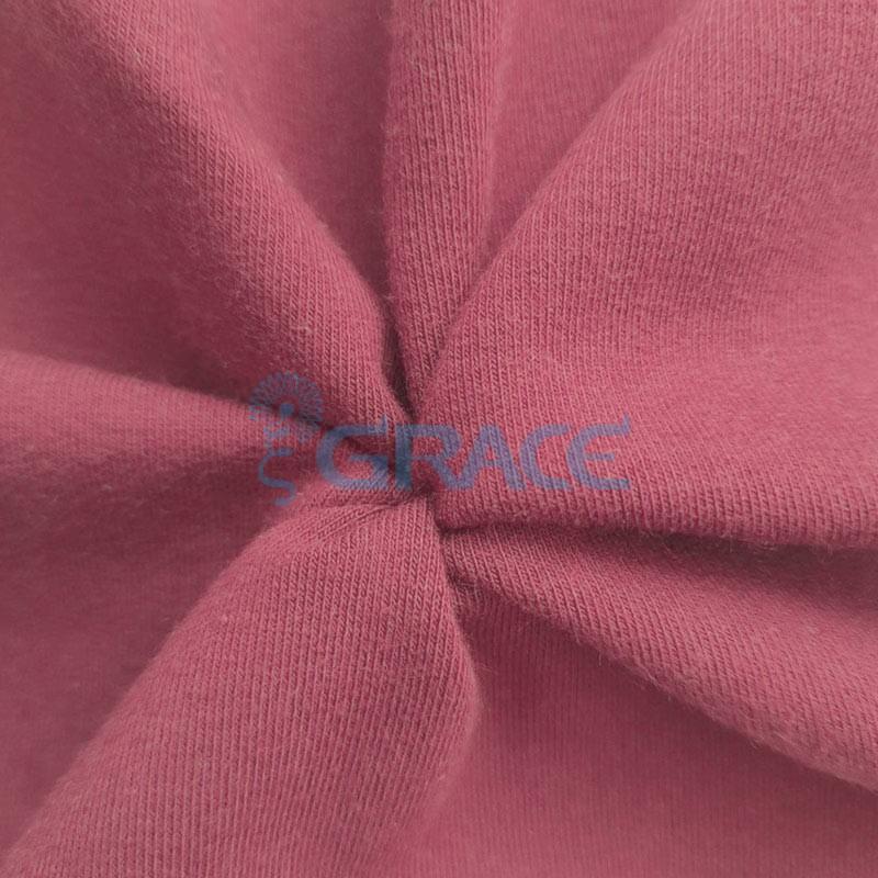 Футер 320 гр. - ткань хлопковая, петельчатый, темно-розовый оттенок