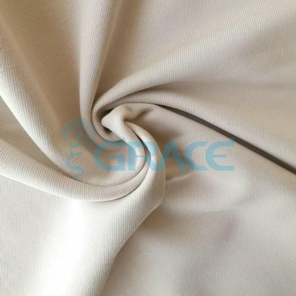 Футер 320 гр. - ткань хлопковая, петельчатый, цвет экрю