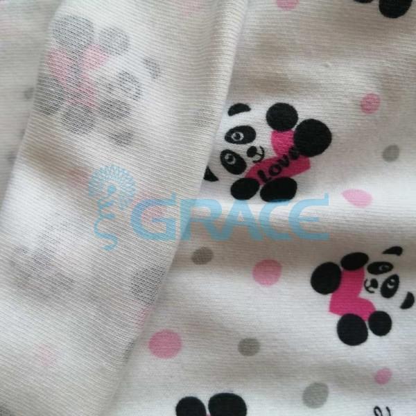 Интерлок с пандами - ткань хлопковая трикотажная с рисунком