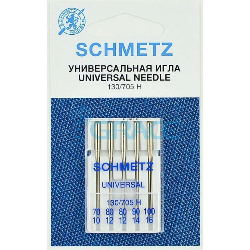 Иглы стандартные Schmetz 70, 80(2), 90, 100