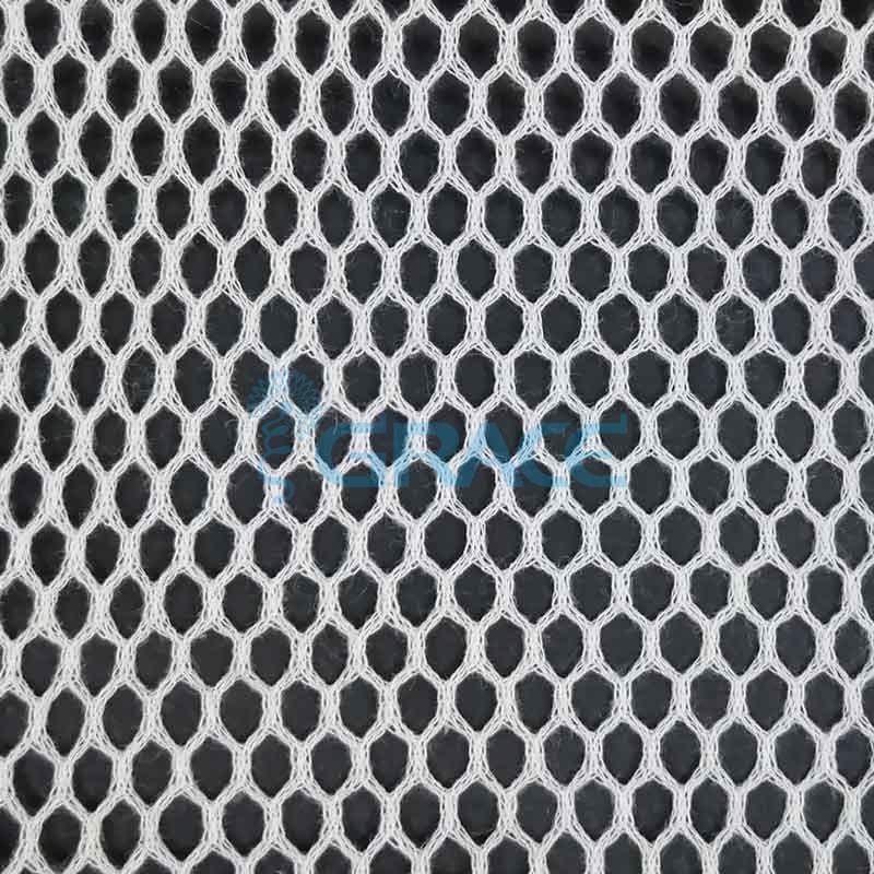 Спортивная сетка хлопковая 48 гр/м², белая ромб, Dzianina S 2250 C