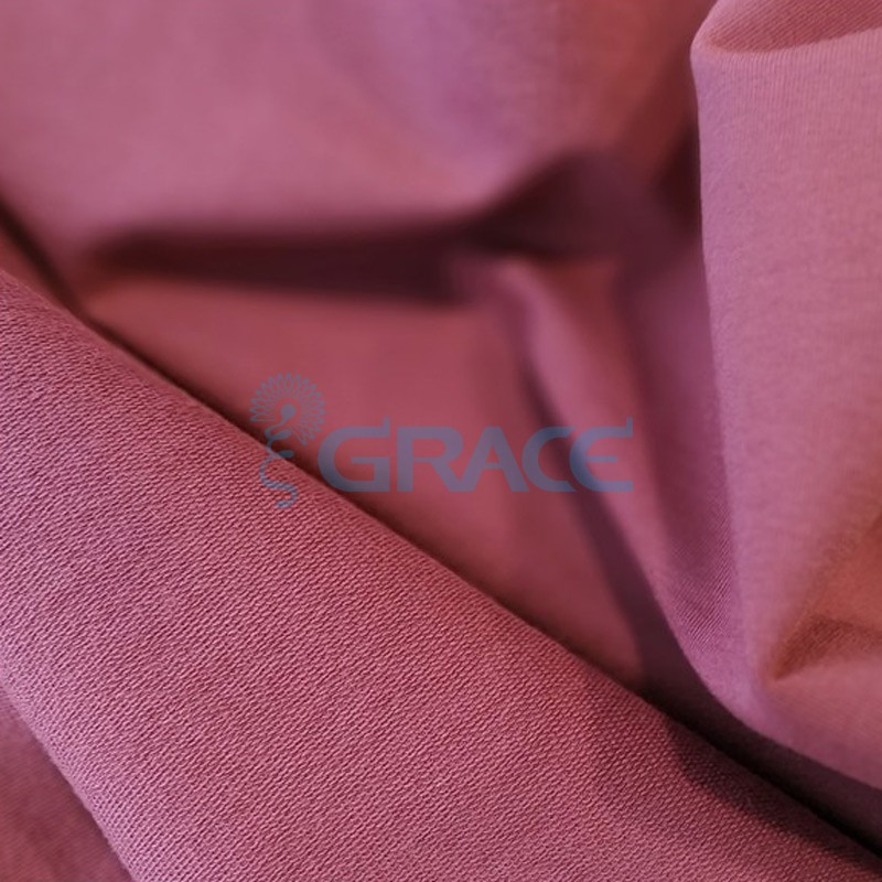 Футер 280 гр. - ткань хлопковая, петельчатая, темно-розового цвета (свекла)