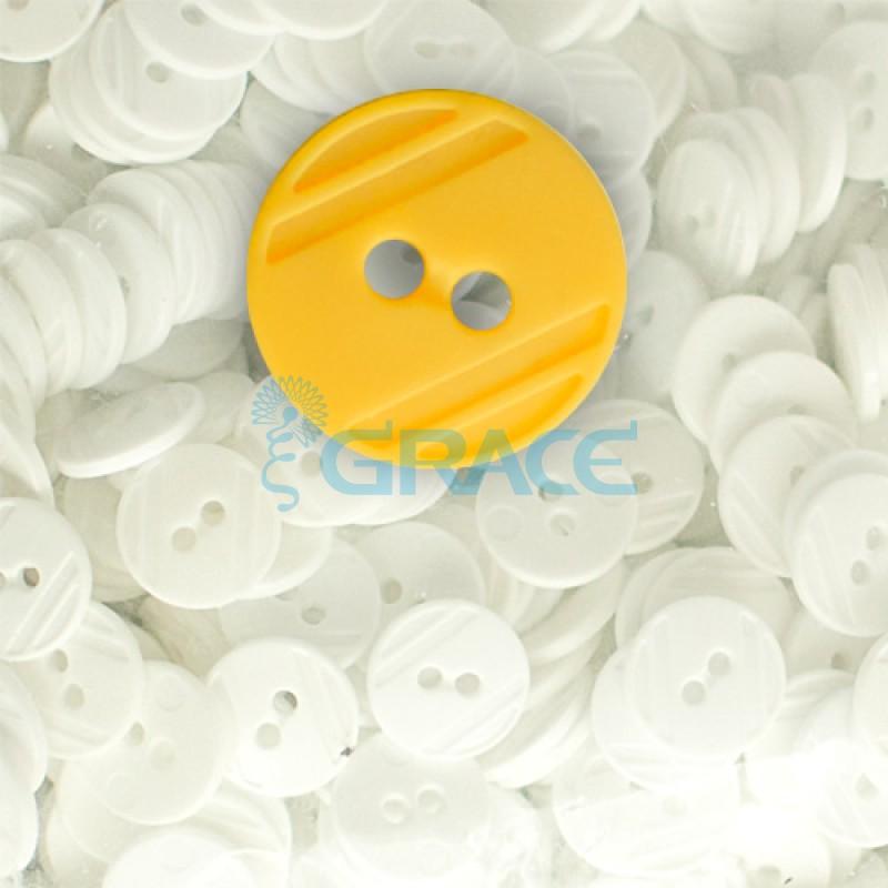 Пуговицы средние круглые плоские Guz YP 1824 (оранжевые 56-18)