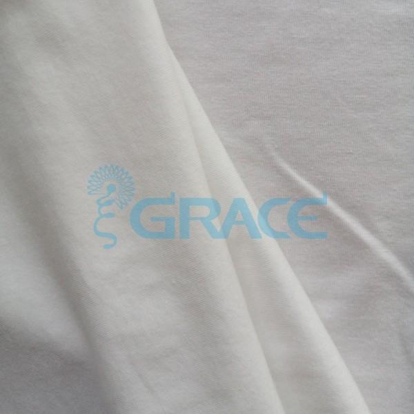 Кулирка GVS408 Lycra supima premium - ткань хлопковая трикотажная, экрю