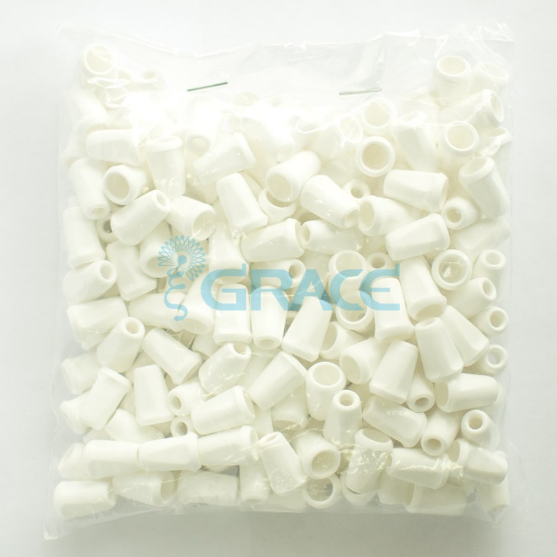 Наконечник пластиковый для шнура Dzw Yp - 01.50 (белый)