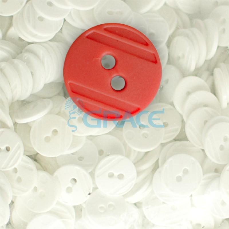 Пуговицы средние круглые плоские Guz YP 1824 (красные 41-02)