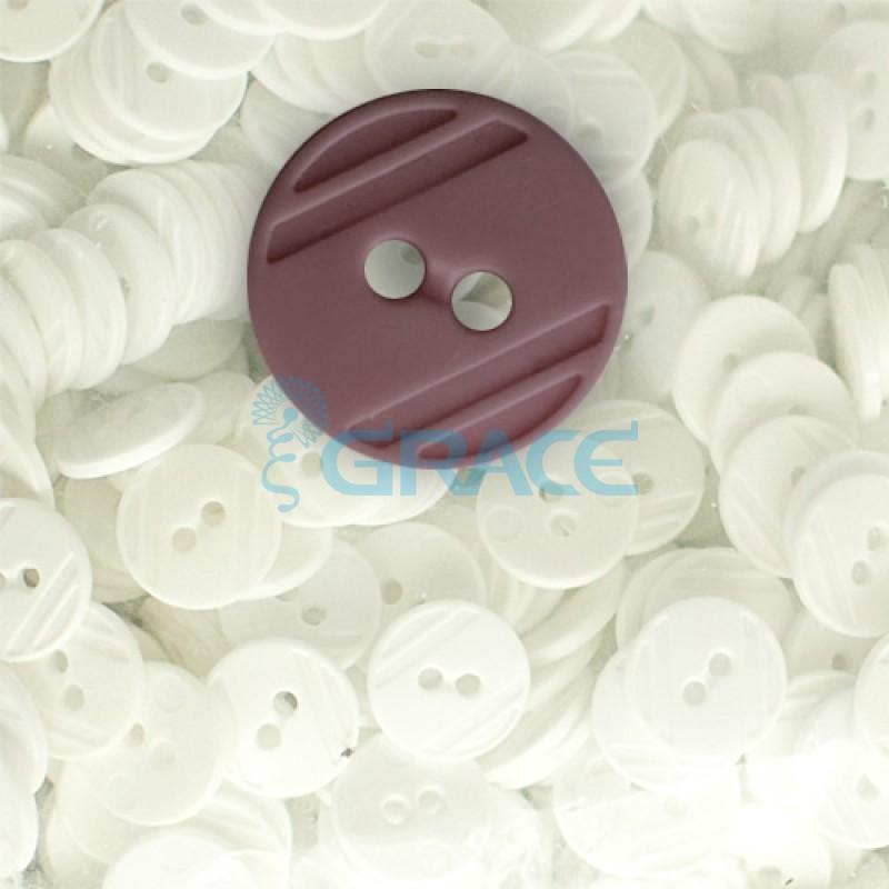 Пуговицы средние круглые плоские Guz YP 1824 (бордовые 56-70)