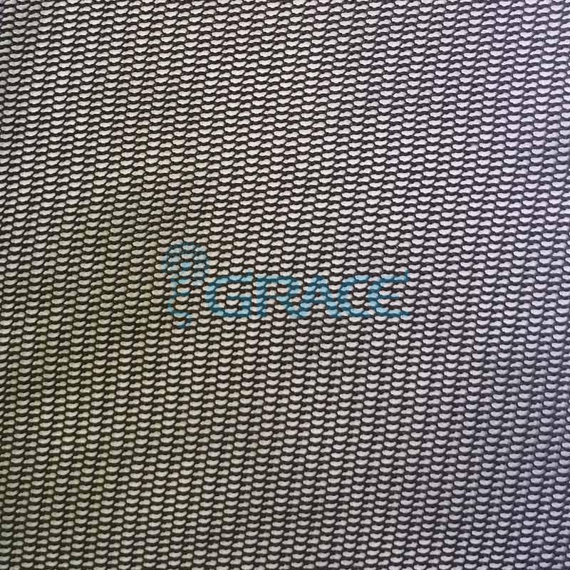 Ткань тюль черная полиэстер, Tiul drobny TW 11 6/6