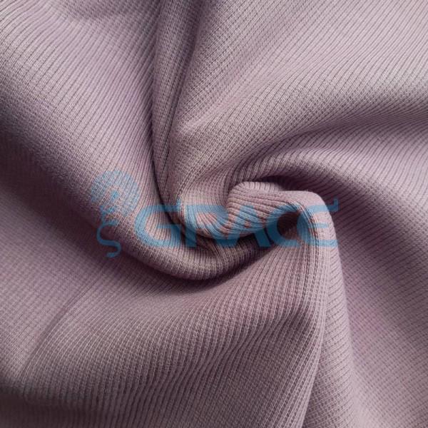 Рибана - ткань хлопковая трикотажная, с рубчиком в фиолетовом цвете
