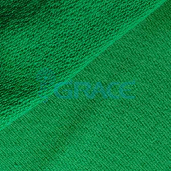 Футер celebrity 280 - ткань хлопковая с начесом зеленая