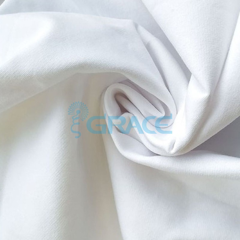 Футер 280 гр. - ткань хлопковая, петельчатый, белоснежный оттенок