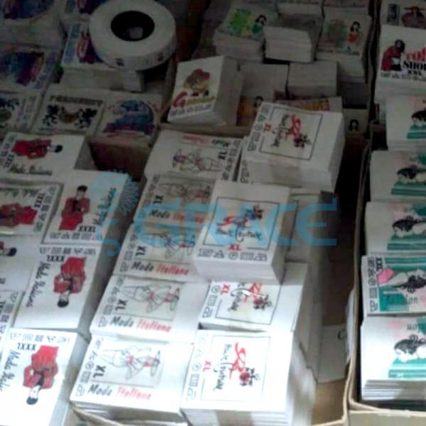 Вшивные этикетки, размер в ассортименте
