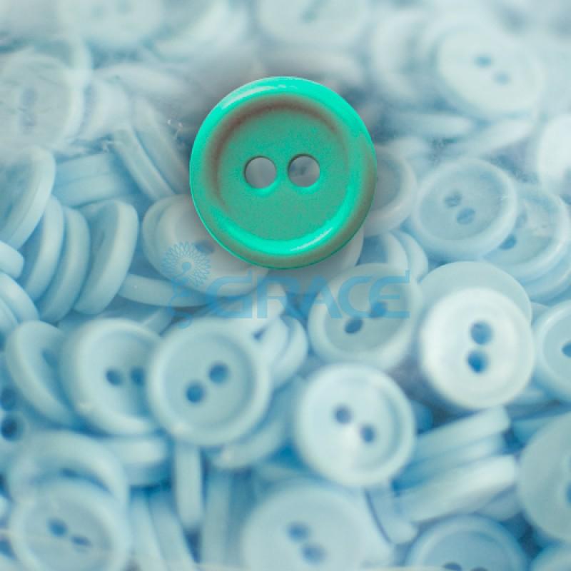 Пуговицы мелкие круглые плоские Guz YP 1818 (зеленые 60-01)