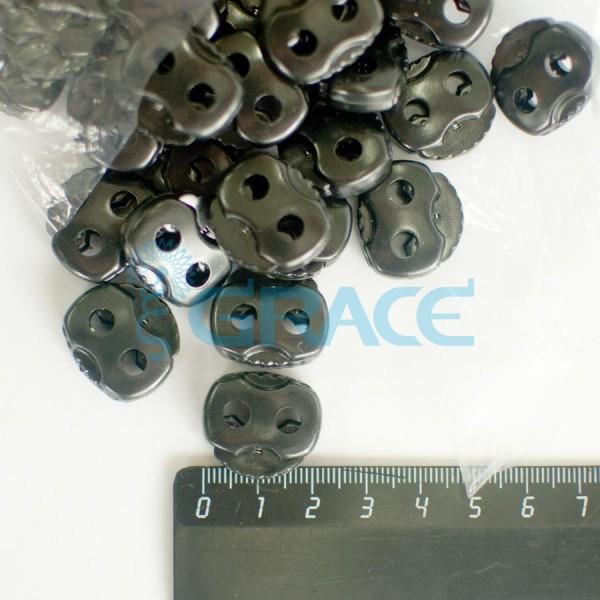 Фиксатор пластиковый для шнура StoY 103 (черный)