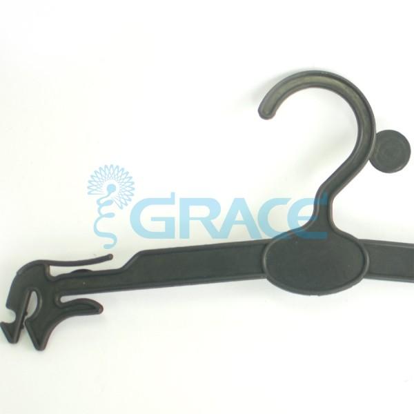 Вешалка для одежды с размером, не поворотная, с зажимами WiePBL/250 (черная)