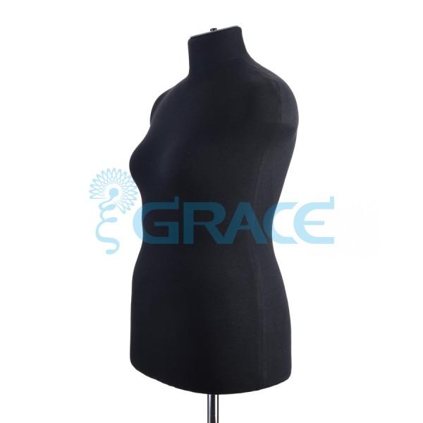 Манекен мягкий торс женский 48 размер, черный