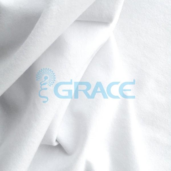 Кулирка GVS144 Malibu BIS - ткань хлопковая трикотажная, белая
