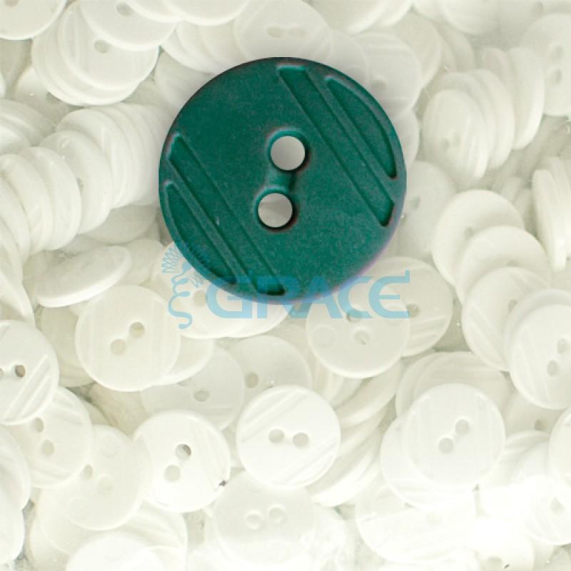 Пуговицы средние круглые плоские Guz YP 1824 (зеленые 60-15)