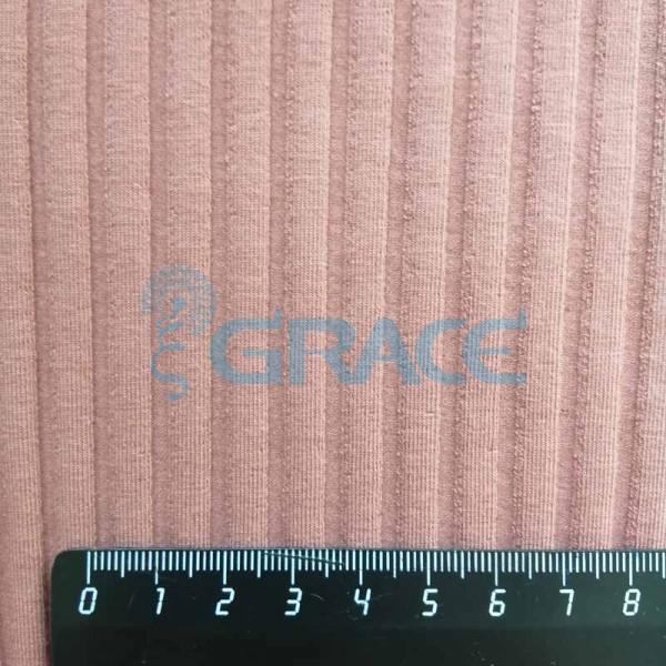 Рибана GVCB385 Haga gots organic - ткань хлопковая трикотажная, бордовая