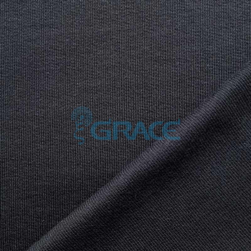 Футер 380 гр. - ткань хлопковая, петельчатый, черный цвет