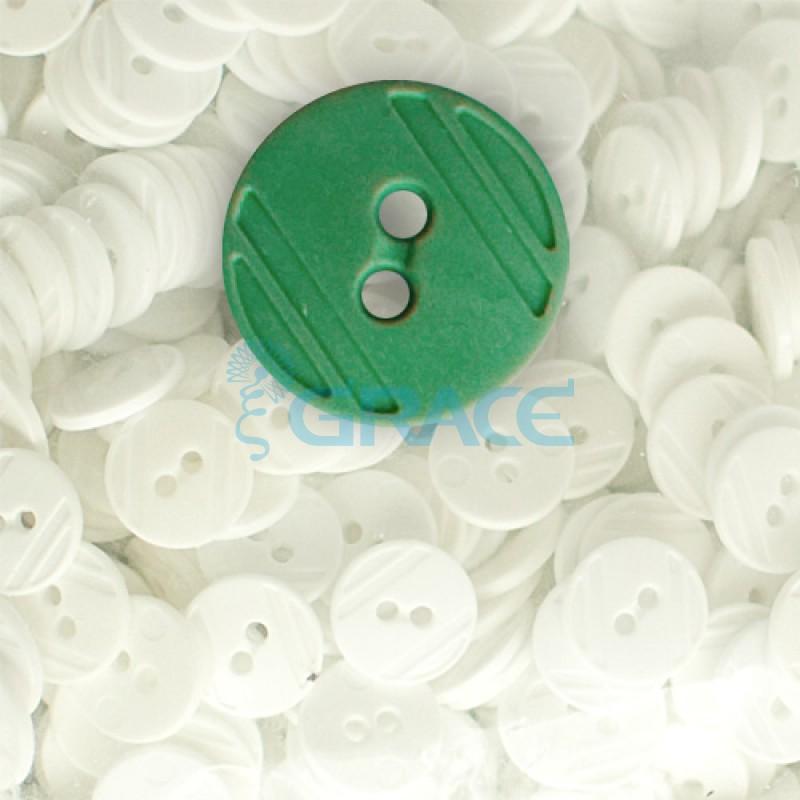 Пуговицы средние круглые плоские Guz YP 1824 (зеленые 60-19)