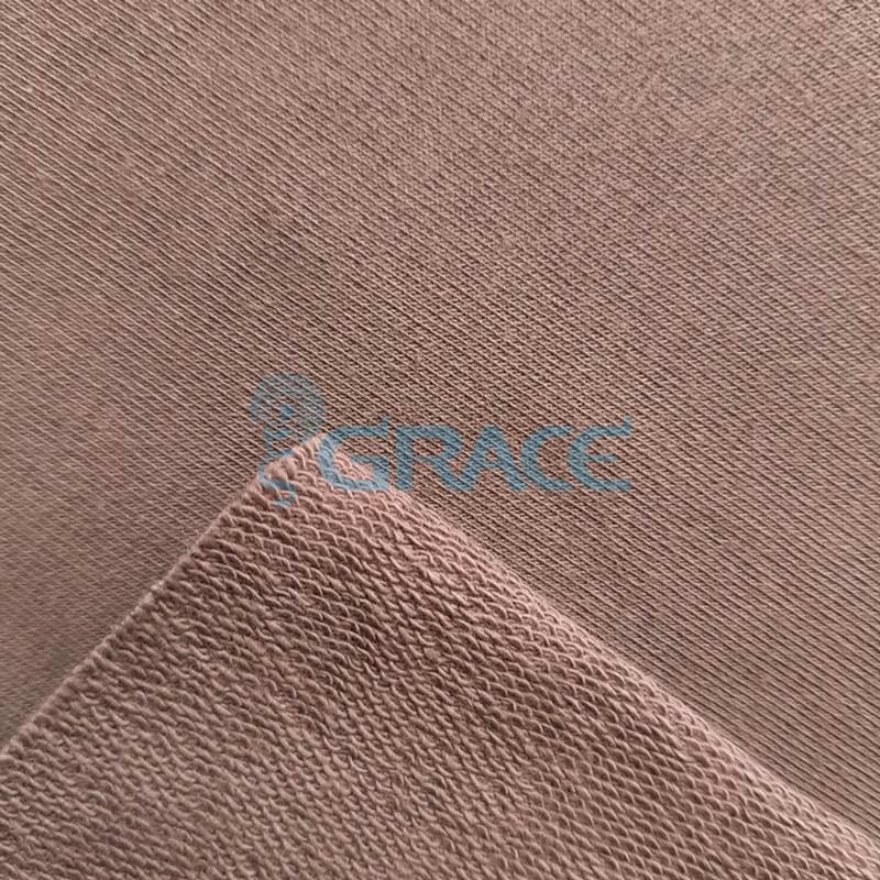 Футер 280 гр. - ткань хлопковая, петельчатая, серо-коричневого цвета