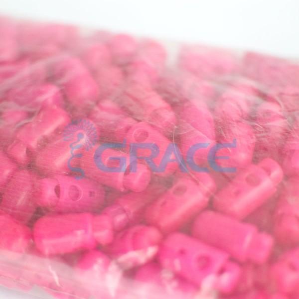 Фиксатор пластиковый для шнура Sto-13.50 (розовый)