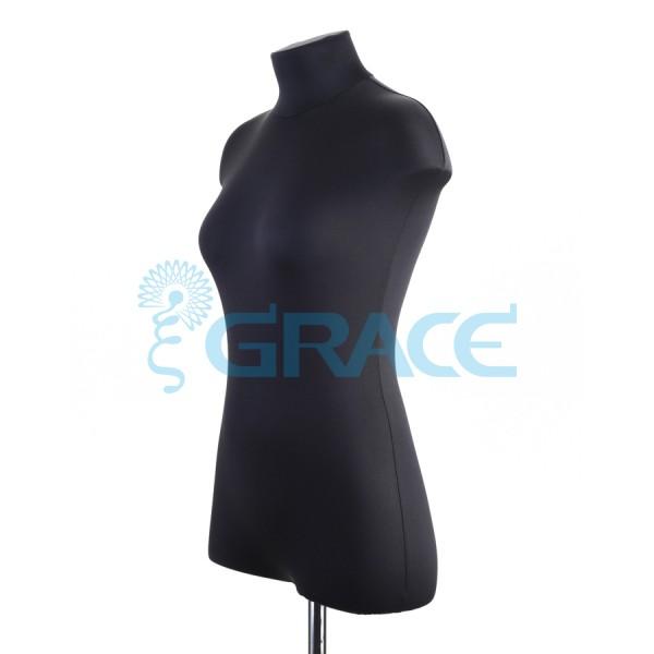 Манекен мягкий ГОСТ женский 44 размер, черный