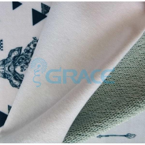 Коллекция интерлок с рисунком зеленого оленя - ткань хлопковая, трикотаж
