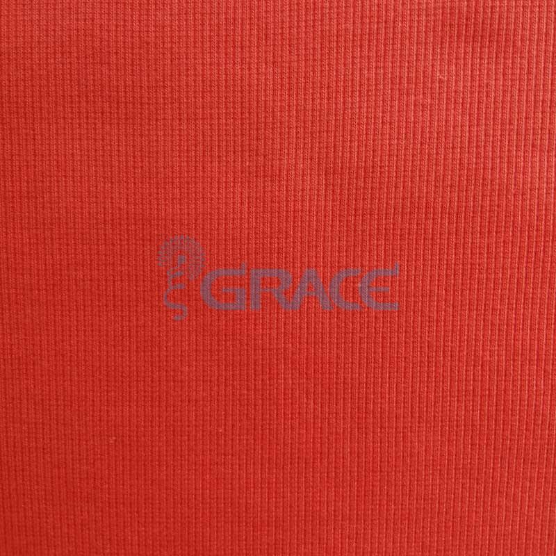 Кашкорсе GVC46 - ткань хлопковая трикотажная, красная