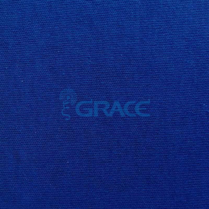 Интерлок MI 2261 - ткань хлопковая трикотажная, синяя