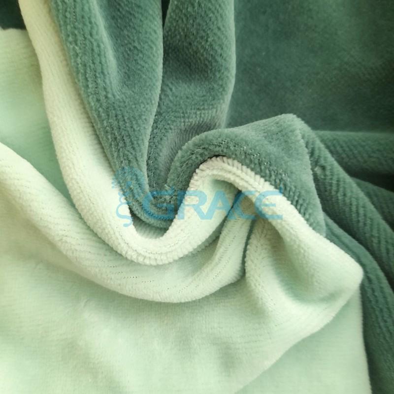 Ткань велюр - натуральная трикотажная, эластичная в мятном салатовом цвете