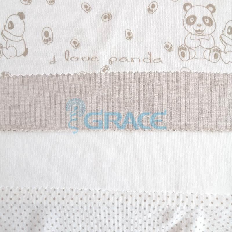 Коллекция интерлок с рисунком панда - ткань хлопковая, трикотаж