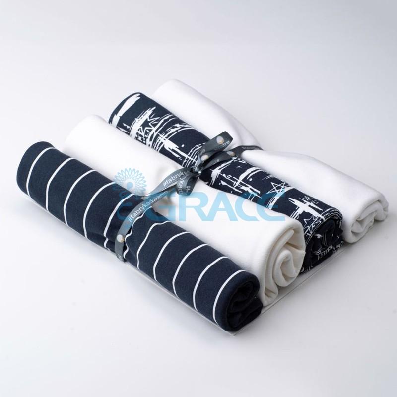 Коллекция интерлок и рибана с полосками и кометами - ткань хлопковая, трикотаж