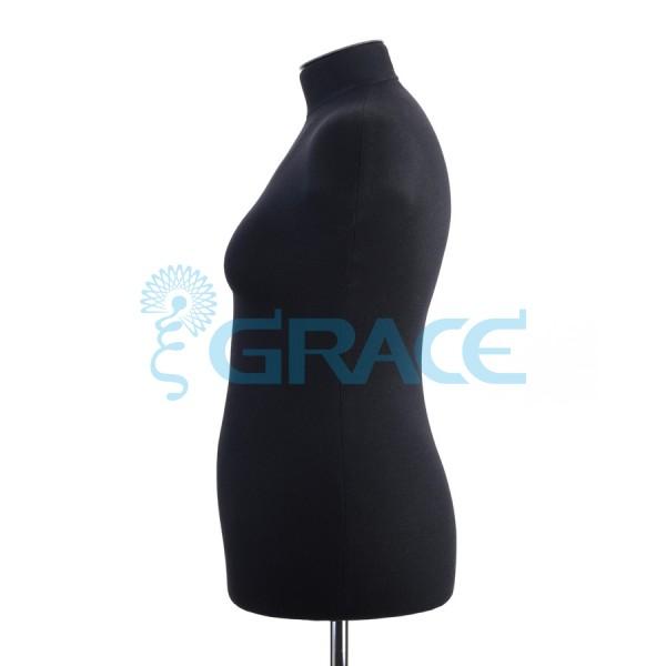 Манекен мягкий торс женский 50 размер, черный