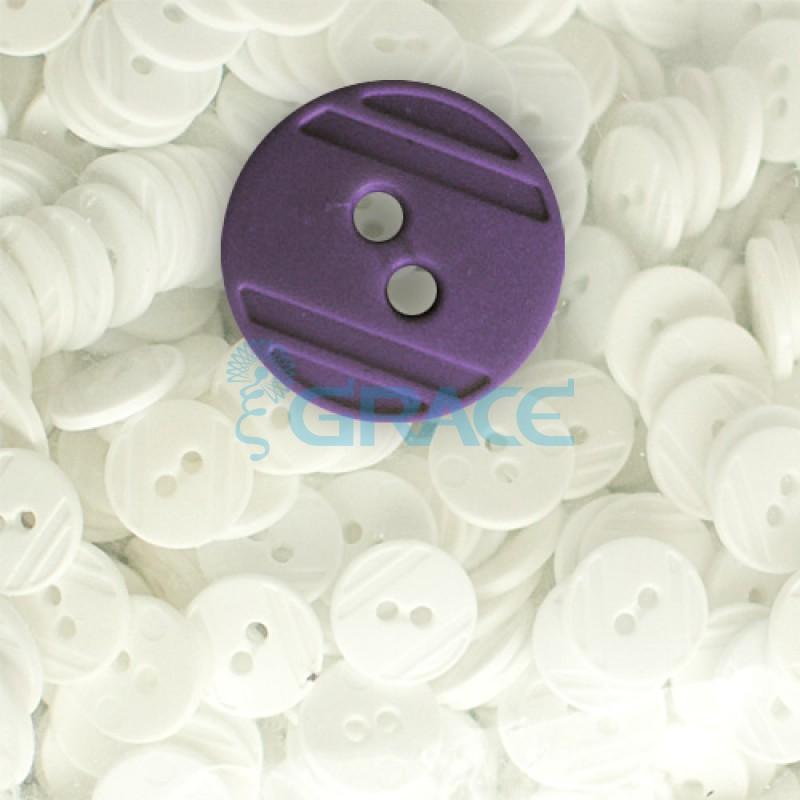 Пуговицы средние круглые плоские Guz YP 1824 (фиолетовые 55-103)