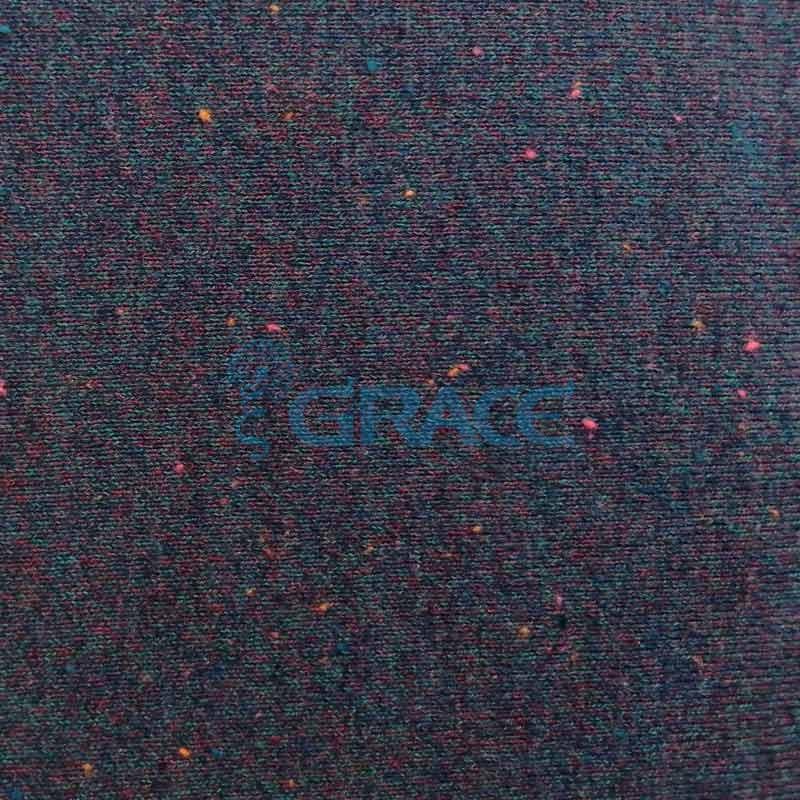 Трикотаж MS 1403 - ткань хлопковая с акрилом, черная