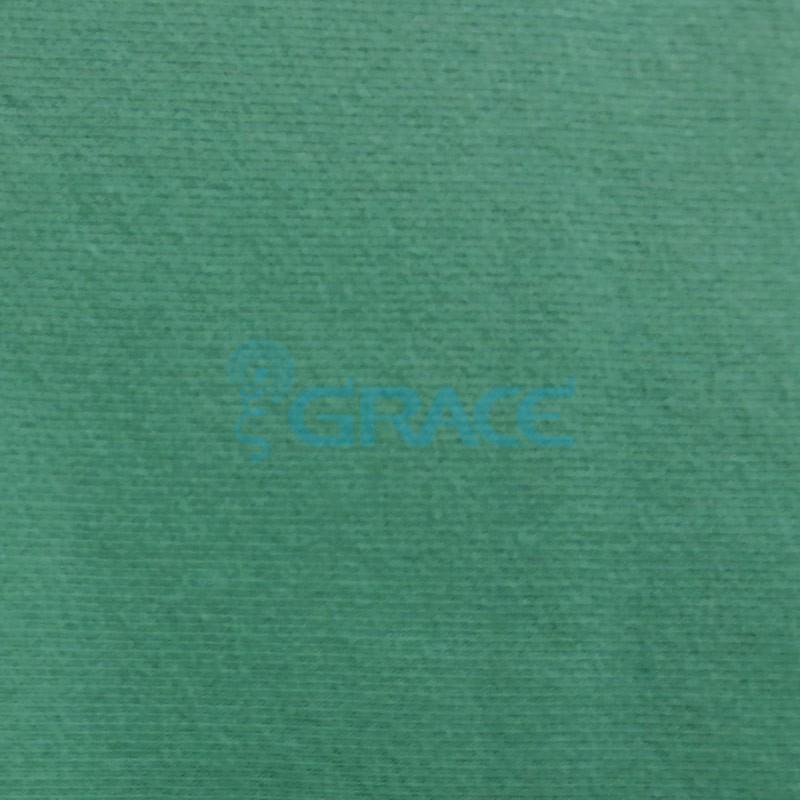Футер MD 3602 - ткань хлопковая двухсторонняя с петельками, зеленая
