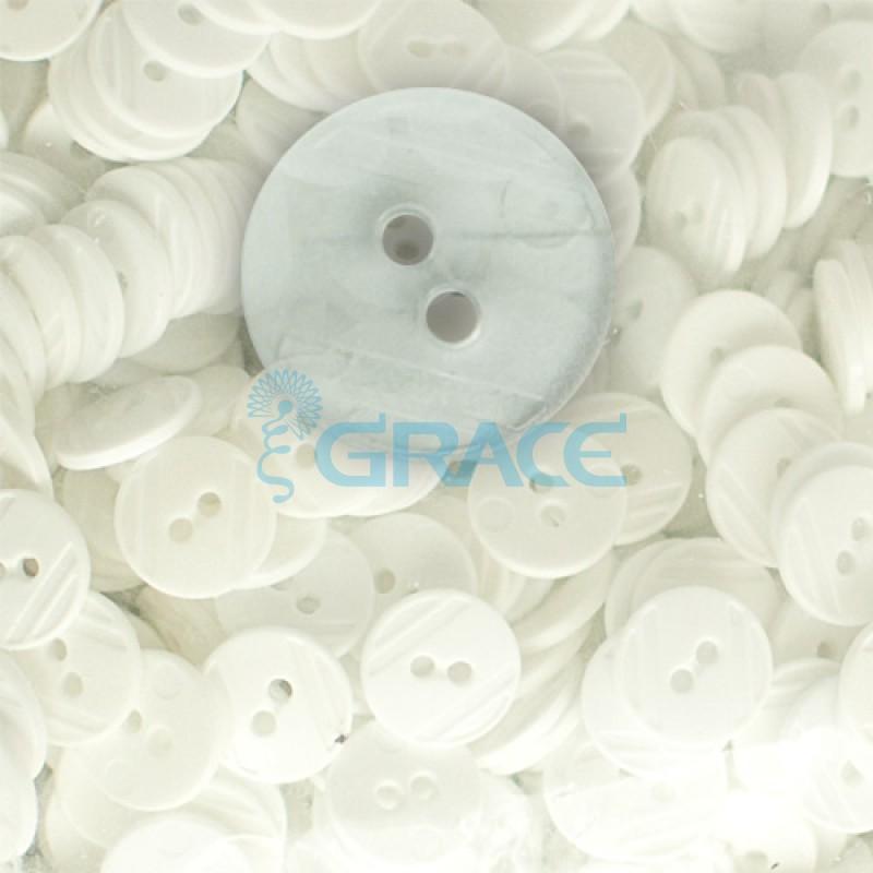 Пуговицы средние круглые плоские Guz YP 1824 (прозрачные 01-09)
