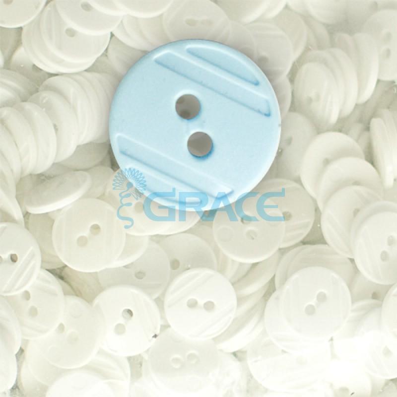 Пуговицы средние круглые плоские Guz YP 1824 (голубые 50-70)
