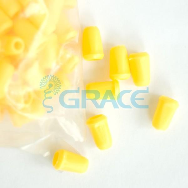 Наконечник пластиковый для шнура Dzw Yp - 01.50 (желтый)