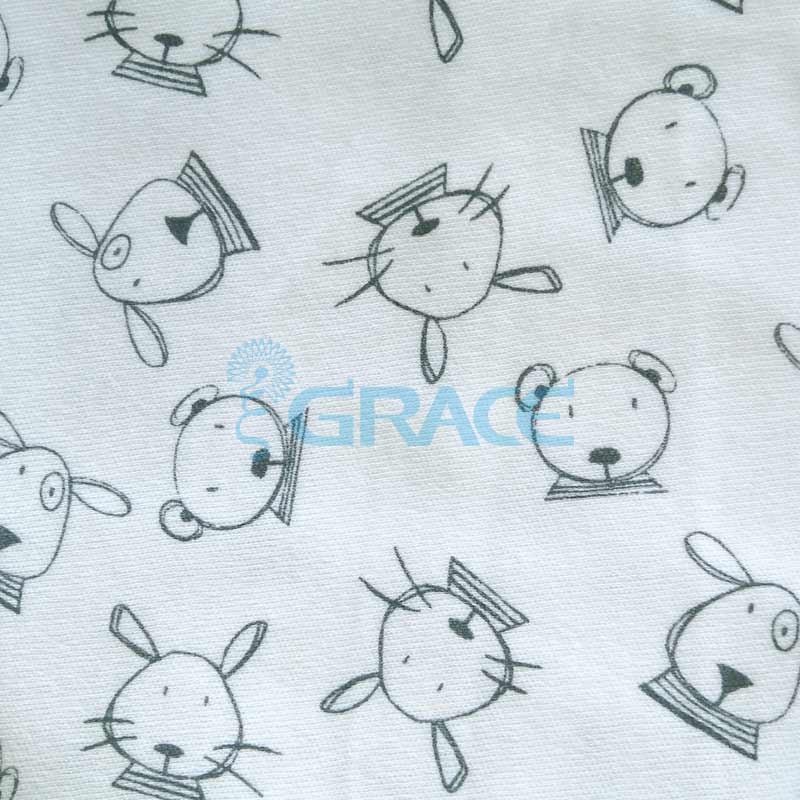 Интерлок с мышками, зайками, медвежатами - ткань хлопковая трикотажная с рисунком