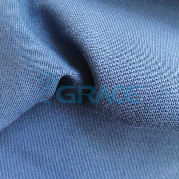 Кулирка GVS38 - ткань хлопковая трикотажная, синяя