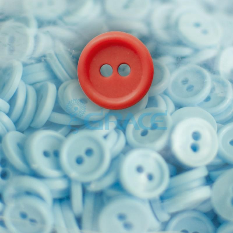 Пуговицы мелкие круглые плоские Guz YP 1818 (красные 40-08)