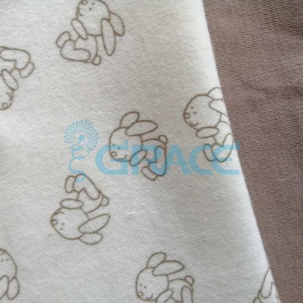 Коллекция интерлок с рисунком зайчик - ткань хлопковая, трикотаж