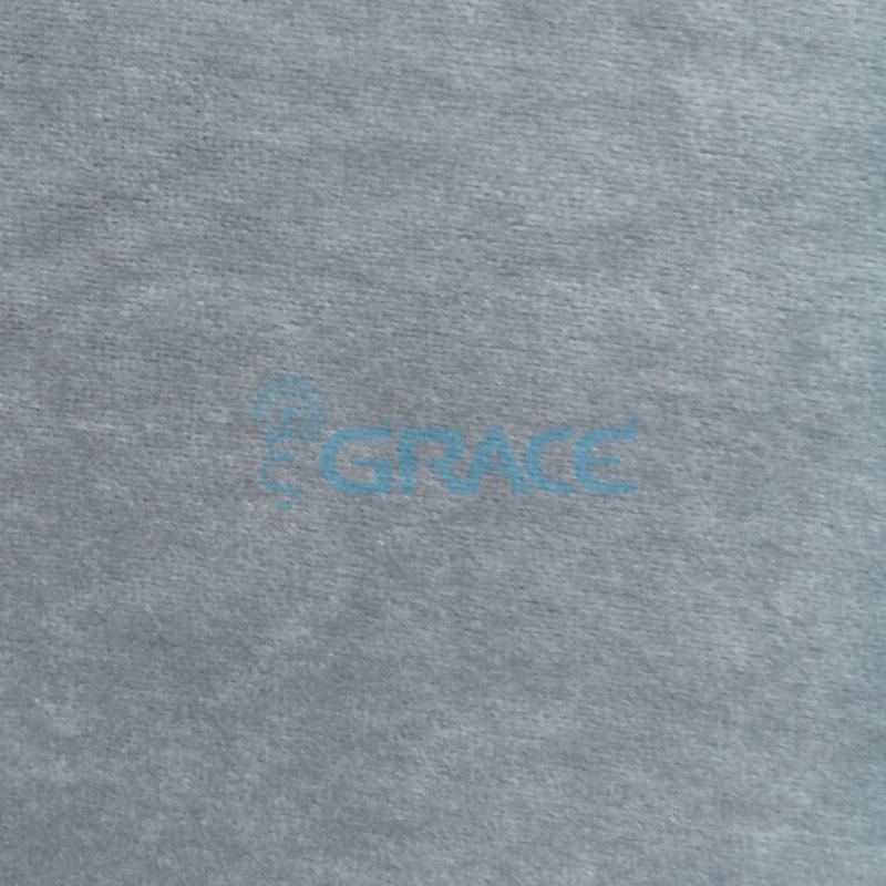Трикотажный велюр эластичный 240 гр./м², серый GVW210