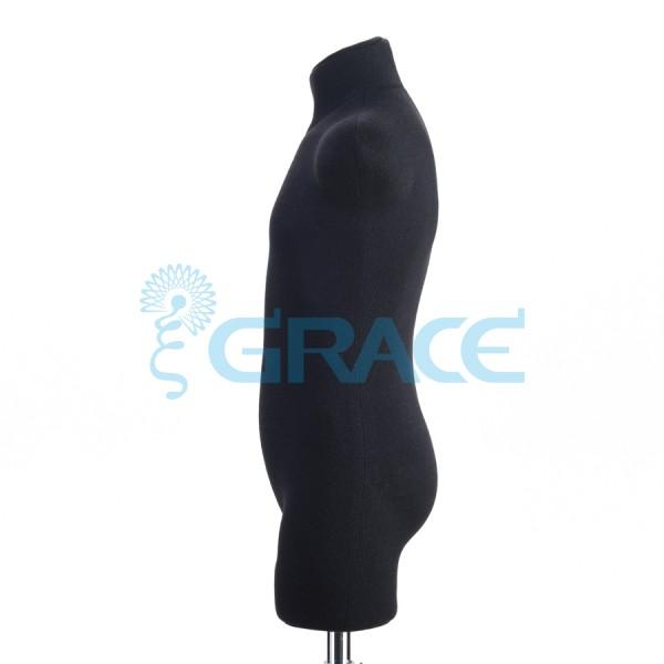Манекен мягкий демонстрационный детский  32, 34 размер, черный