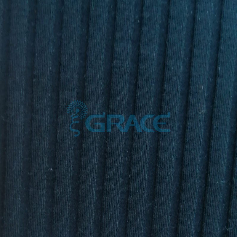 Кашкорсе HAGA 250 - ткань хлопковая трикотажная, черная