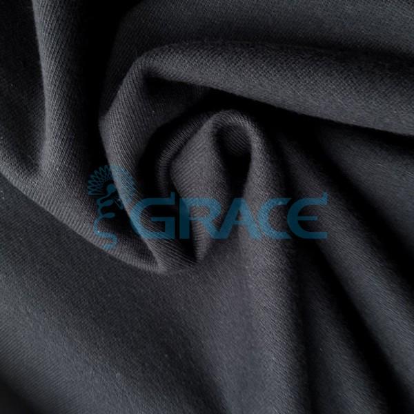 Футер 320 гр. - ткань хлопковая, петельчатый, черный цвет