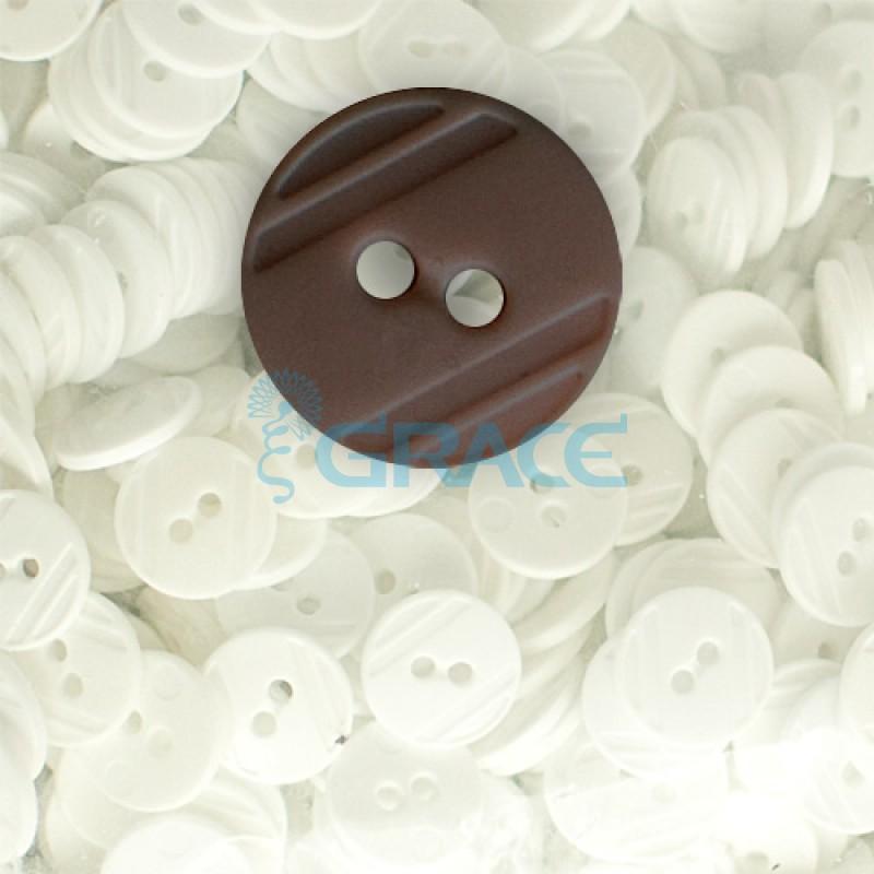 Пуговицы средние круглые плоские Guz YP 1824 (коричневые 80-41)